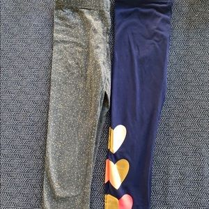 NWOT Pair of size 6 sparkle leggings